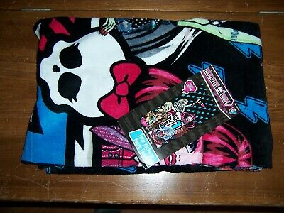 NWT Monster High Total Recharge Beach Towel 28  X 58  100% Cotton • 19.79£