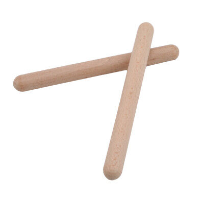 Wooden 1 Pair Rhythm Stick Percussion Hit Sticks New Toys Wooden Percussion SG • 3.20£