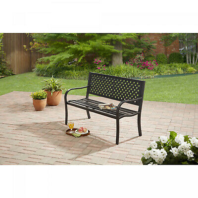$84.30 • Buy Outdoor Bench Seat Garden Park Porch Patio Chair Metal Furniture Yard Backyard