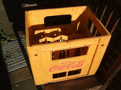 Vintage Yellow Coca-cola Plastic Crate Made In England • 75£