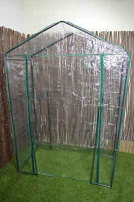 Walk In Garden Greenhouse Green House With 4 Shelves • 37.49£