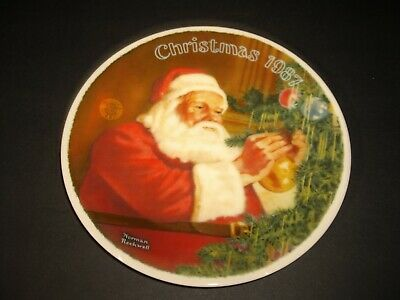 $ CDN25.99 • Buy 1987 Norman Rockwell Santa's Golden Gift Knowles Collectors Plate New In Box