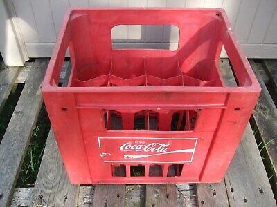 Vintage Red Coca - Cola Crate For 12 Botale Space By John Dale Ltd • 75£