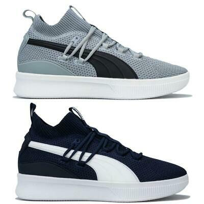 Mens Puma Clyde Court Basketball Lace Up Breathable Cushioned Sock Like Trainers • 39.99£