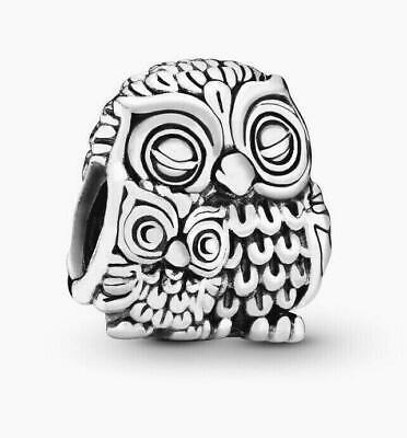 £14.99 • Buy Genuine Pandora 925 ALE Sterling Silver Mother Owl And Baby Owl Charm 791966