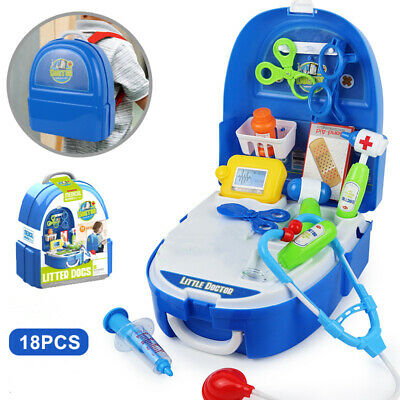 £13.99 • Buy 18PCS Backpack Kids Children Doctor Nurse Role Play Pretend Toys Accessories UK