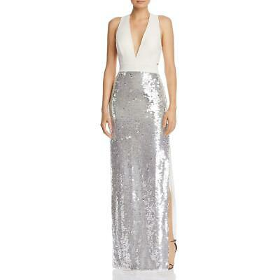 $40.79 • Buy Aidan By Aidan Mattox Womens Ivory Sequined Formal Dress Gown 2 BHFO 9920