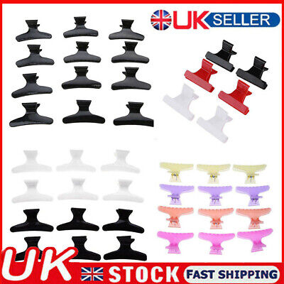 £4.99 • Buy 12PCS/Set Salon Hairdressing Clips Butterfly Hair Styling Section Clamp Claw UK