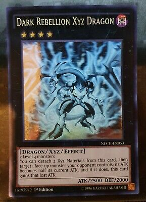 AU199.99 • Buy Yugioh Card - Dark Rebellion Xyz Dragon *Ghost Rare* NECH-EN053 (NM)