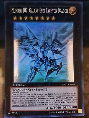 AU199.99 • Buy Yugioh - Number 107: Galaxy-Eyes Tachyon Dragon *Ghost Rare* LTGY-EN044 (NM)