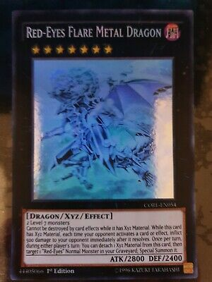 AU249.99 • Buy Yugioh Card - Red-Eyes Flare Metal Dragon *Ghost Rare* CORE-EN054 (NM)