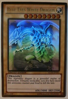 AU349.99 • Buy Yugioh Card - Blue-Eyes White Dragon *Ghost Gold Rare* GLD5-EN001 (NM)