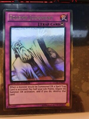 AU79.99 • Buy Yugioh Card - Solemn Judgment *Ghost Gold Rare* GLD5-EN045 (NM)