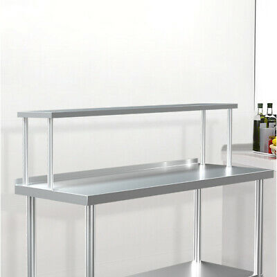 Stainless Steel Single Tier Over Shelf Kitchen Top Prep Table Overshelf Catering • 82.95£