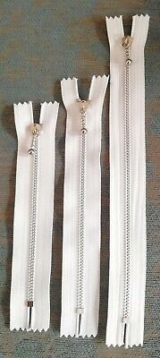 £1.50 • Buy WHITE ZIP With BALL PULLER STRONG CLOSED-END METAL TEETH