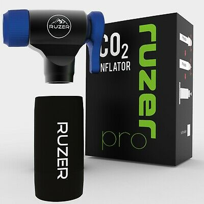RUZER© CO2  Presta & Schrader Valve Bicycle Tyre Pump 12g 16g 20g 25g Cartridges • 14.97£