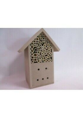 £6.99 • Buy Insect Wooden Hotel Natural House Bee And Insects Nesting Box **UK FAST POST**