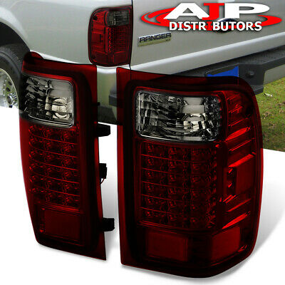 $104.99 • Buy Red Smoke Replacement LED Tail Lights Stop Brake Lamps For 2001-2011 Ford Ranger