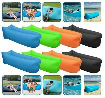 £9.99 • Buy Air Bed Sofa Inflatable Camping Couch Lounger Lazy Sleeping **UK FAST POST**