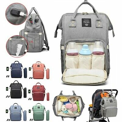 £17.99 • Buy LEQUEEN Nappy Bag Large Capacity Travel Backpack With USB **UK FAST POST**