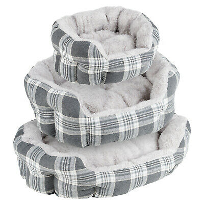 Me & My Grey Check Extra Thick/soft Pet Bed Dog/puppy Small/medium/large S/m/l • 9.99£