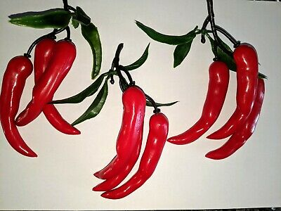 £2.99 • Buy 5 X 3 Artificial Chilli Peppers, Avarage Size Of 1 Chilli - 9cm