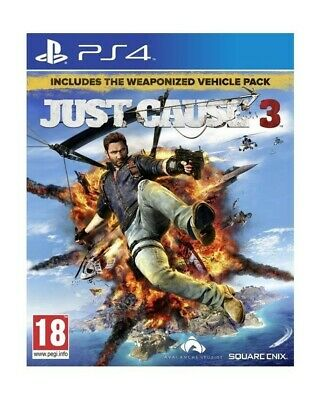 Just Cause 3 For PS4 Includes The Weaponized Vehicle Pack NEW & SEALED • 11£