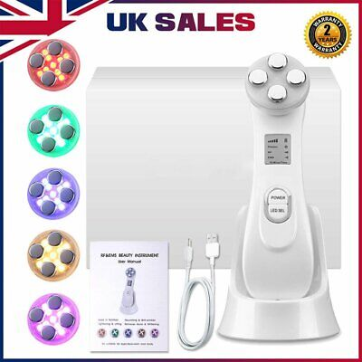 AU41.22 • Buy 5in1 LED Skin Tightening Facial Light Whitening Acne Photon Wrinkle Remover WD