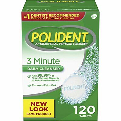 $7.97 • Buy Polident 3 Minute Triple Mint Antibacterial Denture Cleanser 3 Minute Whitening
