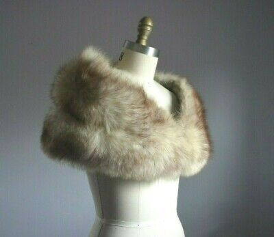 $110 • Buy Natural Blond Beige Tipped Lush Genuine Fox Fur Stole Wrap Shawl