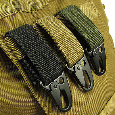 Nylon Tactical Molle Belt Carabiner Key Holder Camp Bag Hook Buckle Strap Clip • 5.68£