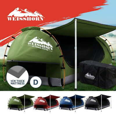 AU260.95 • Buy Weisshorn Double Swag Camping Swags Canvas Dome Tent Hiking Beach W/7CM Mattress
