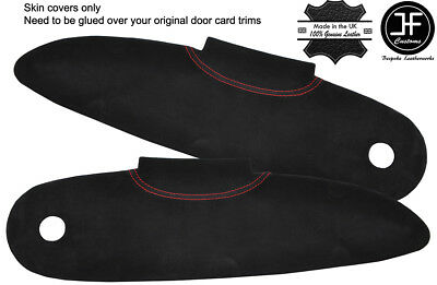 $ CDN204.07 • Buy Red  Stitch 2x Door Card Trim Suede Covers For Lotus Elise S1 96-01 Style 2