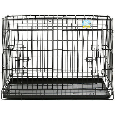 £49.99 • Buy Me & My Large Sloped Car Boot Cage/crate/carrier Transport Dog/puppy Pet 2 Door