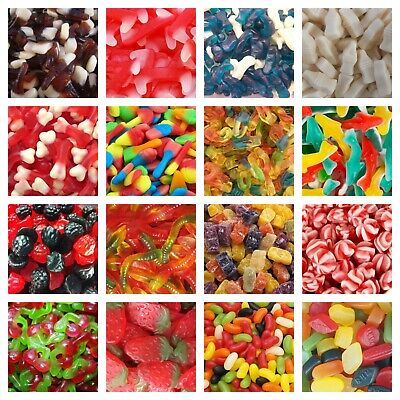 £11.34 • Buy GUMMY JELLY SWEETS Pick N Mix RETRO SWEETS CANDY Wedding Kids Treats Party GUMMI