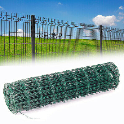 Chicken Wire Netting Green PVC Coated Garden Rabbit Fence Galvanized Mesh Roll • 19.14£