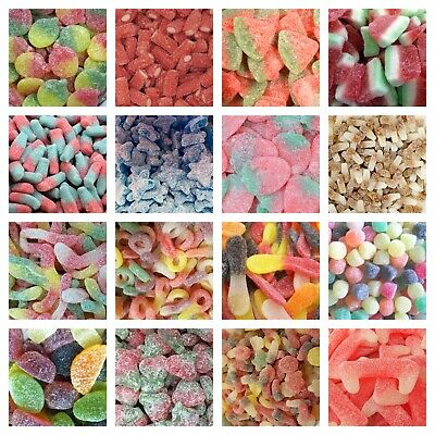 FIZZY SOUR SWEETS Pick N Mix RETRO CANDY Wedding Favours Kids Treats Party Candy • 5.71£