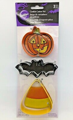 Wilton Metal Halloween Cookie Cutters Set Of 3, FREE SHIPPING! BRAND NEW • 7.65£