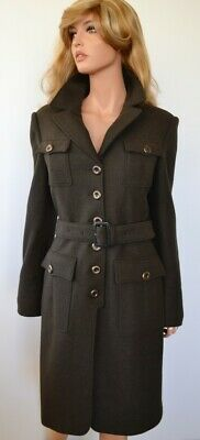 $427.50 • Buy New Burberry $1,495 Olive Green Slim Fit Wool Military Coat Jacket 12 46 DEFECT