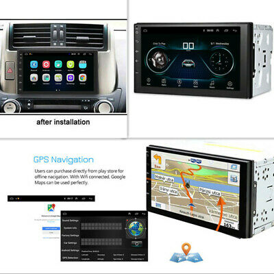 $112.75 • Buy Car Multimedia Player Android 7  2DIN Stereo Radio GPS Navigation Wifi Phone BT