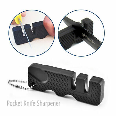 $5.99 • Buy Outdoor Pocket Knife Sharpener Mini Portable Ceramic 2Stage Sharpening Tool