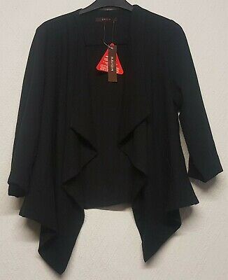 Bnwt Savoir Size 10 Black Open Style Jacket With Three Quarter Length Sleeves • 6.99£