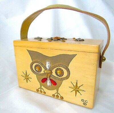 $79.99 • Buy VTG Enid Collins Original Night Owl Box Bag By Collins Of Texas Gold Leather