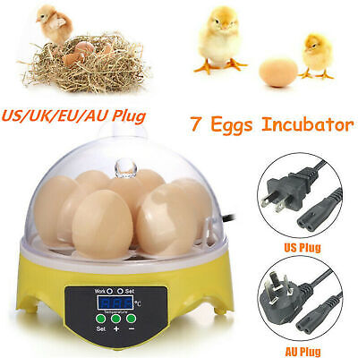 AU44.07 • Buy Mini Digital Egg Incubator For Hatching 7 Eggs Chicken Duck Reptile Bird Brooder