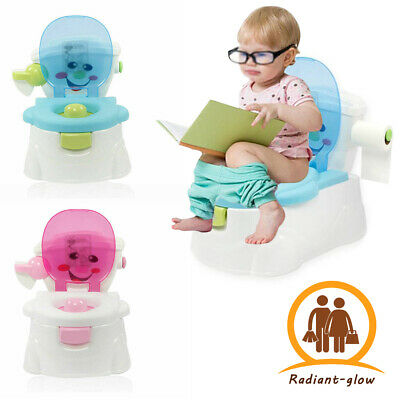 2 In 1 Kids Toilet Seat Baby Toddler Training Potty Trainer Safety Urinal Chair • 12.89£