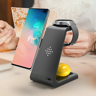 $ CDN35.16 • Buy QI 10W Fast Charge 3 In 1 Wireless Charger Dock For IPhone 11Pro For Apple Watch