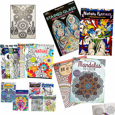 $8.99 • Buy 4 New Adult Coloring Book Mandala Henna Color Designs Stress Relief Relaxation