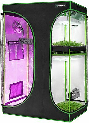 AU179.69 • Buy VIVOSUN 2-IN-1 Grow Tent Mylar Reflective Hydroponic Indoor Grow 120x90x180CM