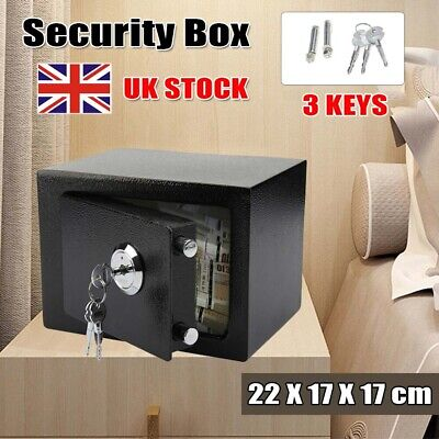 £22.79 • Buy Thicker Steel Security Safe Money Cash Deposit Box Office Home Safety Mini