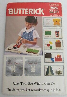 $21.99 • Buy Butterick 5626 Sewing Pattern Learning Book New Vintage 1987